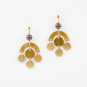 Disc Dangle Post Earrings
