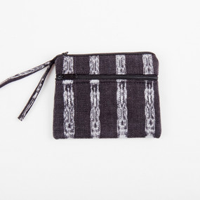 Black & White 3-Zip Change Purse