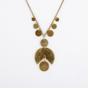 Graphic Circle Necklace