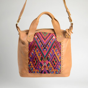 Textile & Leather Day Bag- 3