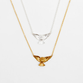 Owl In Flight Necklace