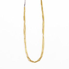 Brass Triple Strand Necklace