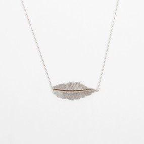 Free Form Feather Necklace