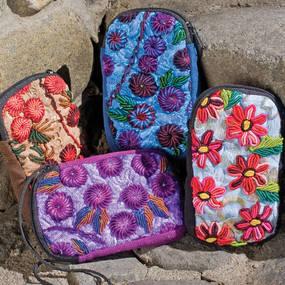 Embroidered Cell Phone Pouch