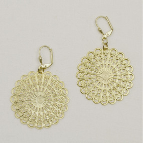 Filigree Sunburst Earrings