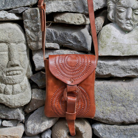 Hand-Tooled Leather Pouch