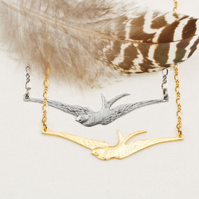 Swallow in Flight Necklace