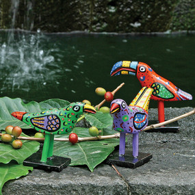 Handpainted Wooden Birds