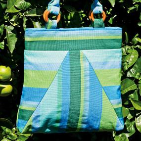 Handwoven Striped Square Bag