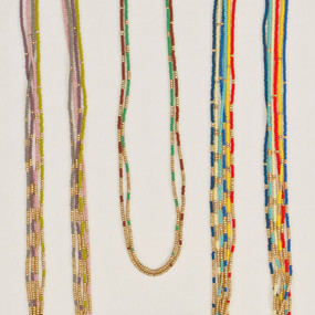 Color Fade Gold Strand Necklace