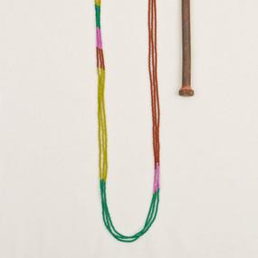Triple Strand Color Block Necklace