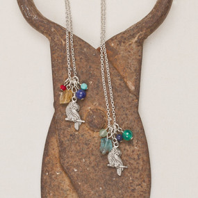 Owl & Stone Necklace