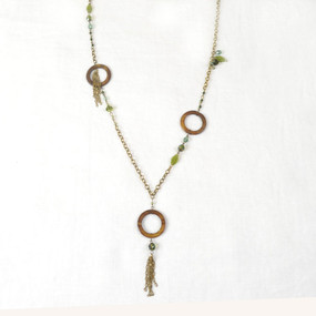 Circle Shell Bronze Necklace