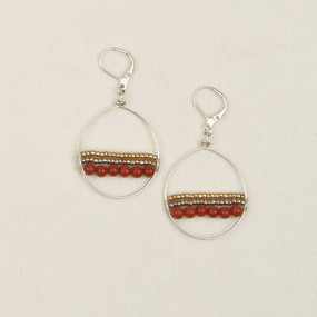 Sterling & Gold Plated Hoops with Stones