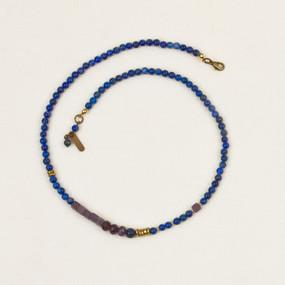 Color Block Stone Necklace