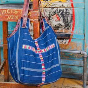 Blue Corte Expandable Bag