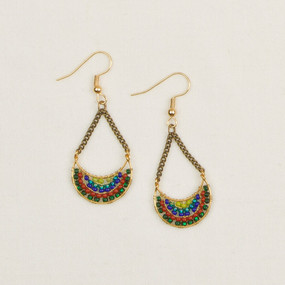 Half Moon & Chain Earrings