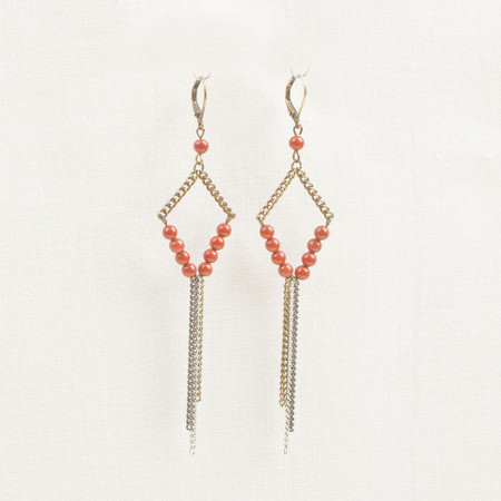 Red jasper earring