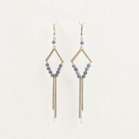 Blue dumortrite earring