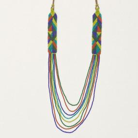 Multi Strand Graphic Necklace