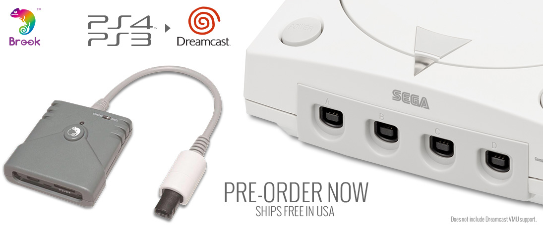 Pre-Order the Brook PS3/PS4 to Sega Dreamcast Super Converter