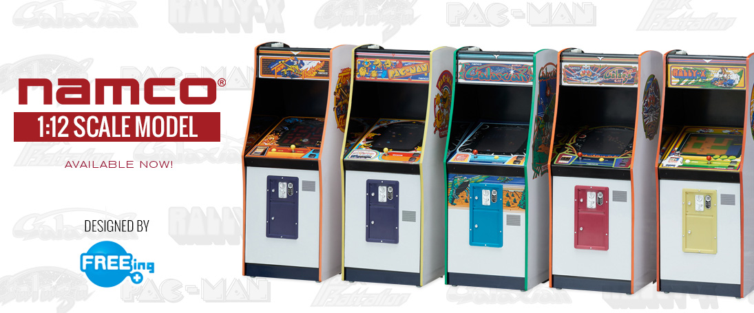 Get the Namco 1:12 Scale Arcade Upright Cabinet. Limited Quantities!