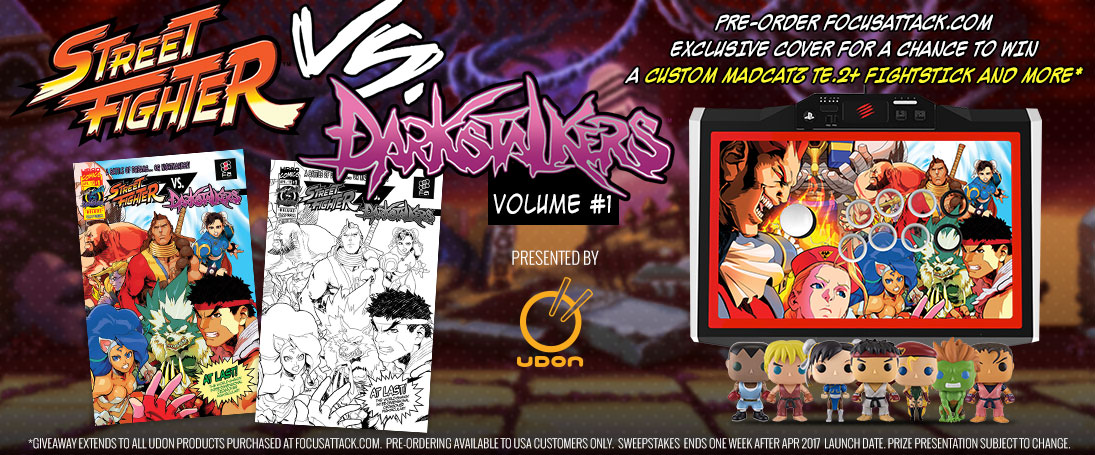 Street Fighter VS Darkstalkers MadCatz TE2+ Giveaway