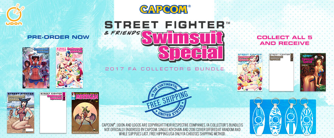 Pre-Order and Save Udon Street Fighter and Friends Swimsuit 2017 Issue