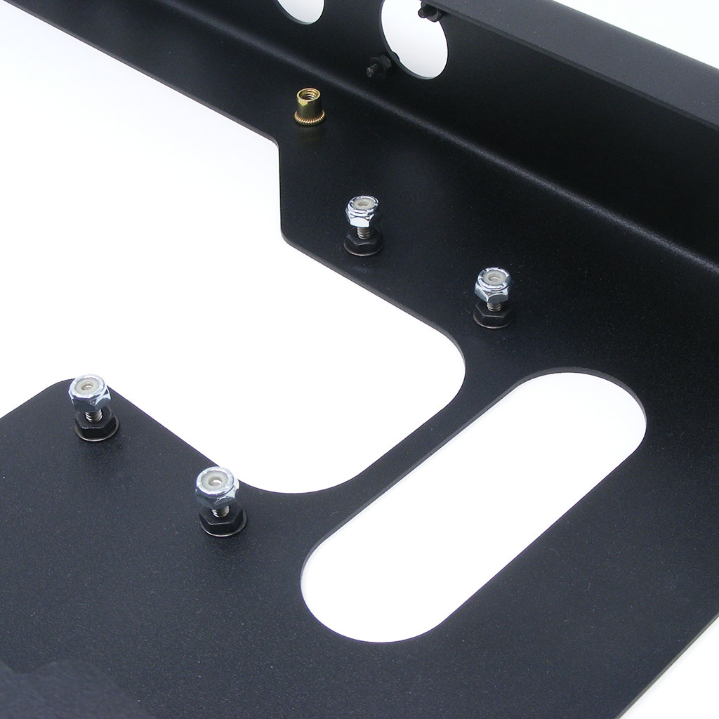 Sanwa JLF compatible mounting system is built into the top of the AFS enclosure