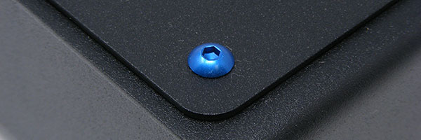 Blue anodized M4 screw