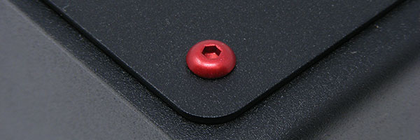 Red anodized M4 screw