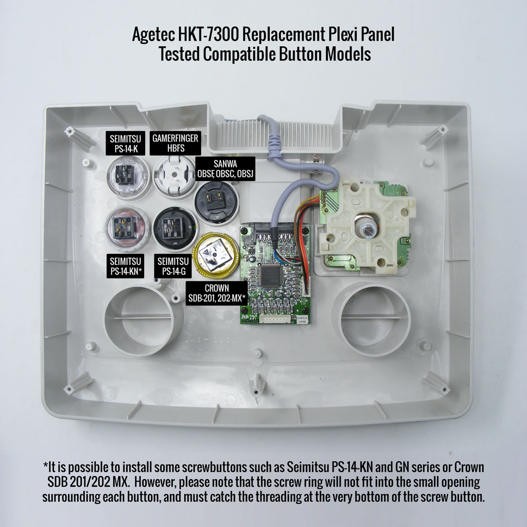 Agetec HKT-7300 Replacement Panel Assembly: Button Compatibility