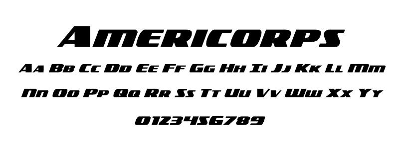 Sans: Americorps font