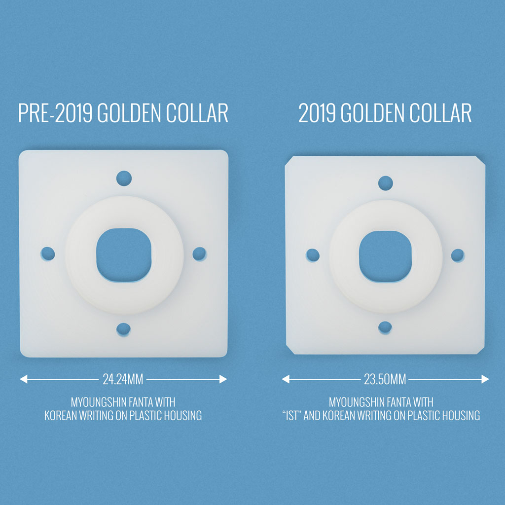 Comparison between pre-2019 and 2019 Golden Collar