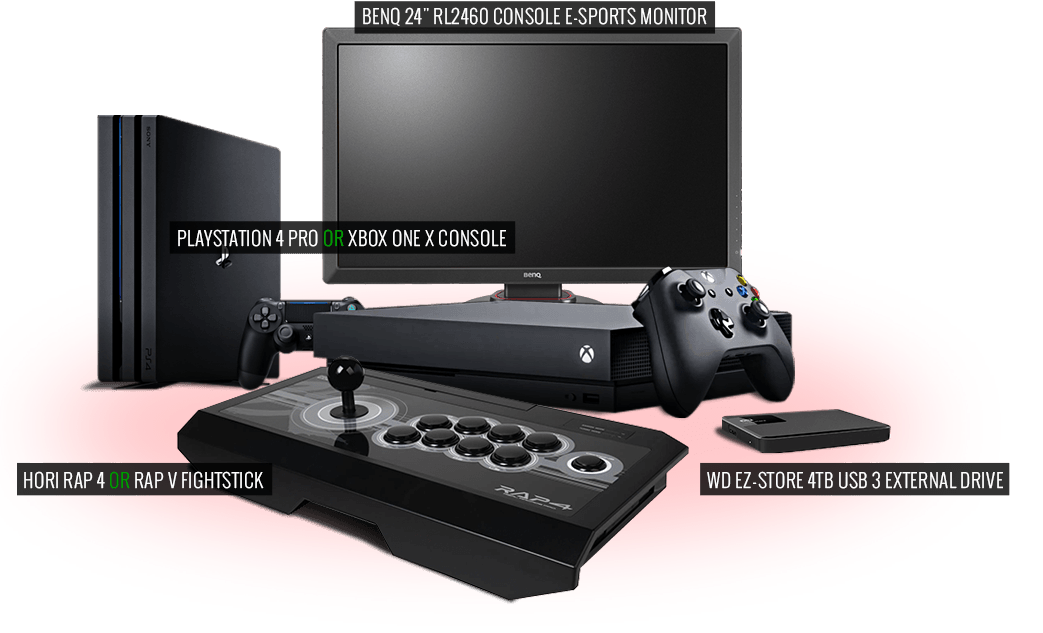 Enter for a chance to win a Sony PS4 or Xbox One X, Zowie Gaming Monitor, Hori Fightstick, and 4TB External HD!