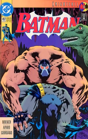 Homage to original Batman Knightfall cover