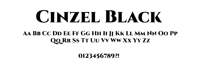 CLASSIC: Cinzel Black font