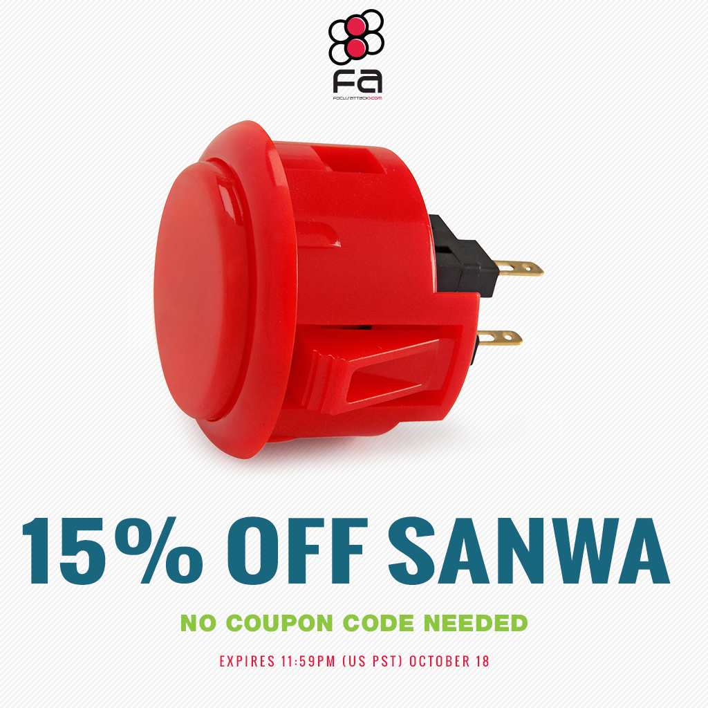 Save 15% on all Sanwa Denshi products now through 11:59PM PST