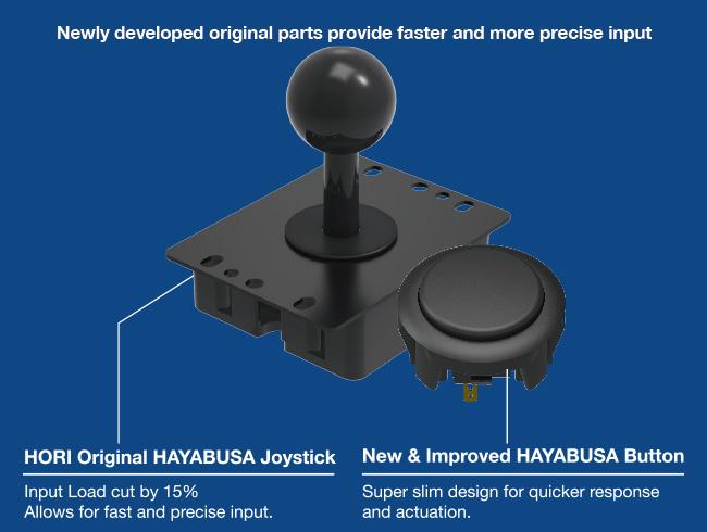 Hayabusa joystick and Kuro pushbuttons