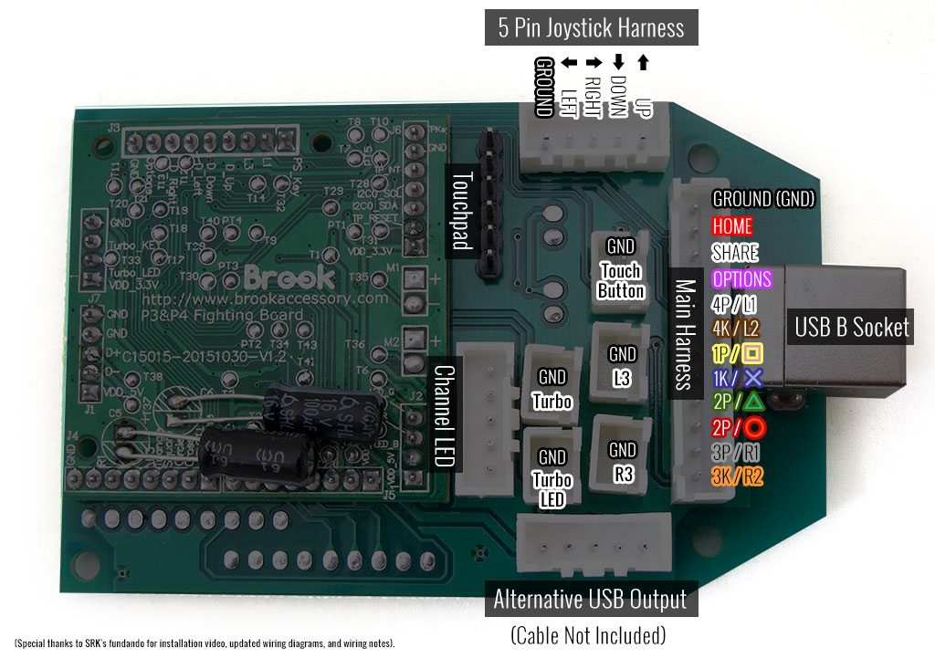 Pre-Installed Brook PS3/PS4 PCB Kit