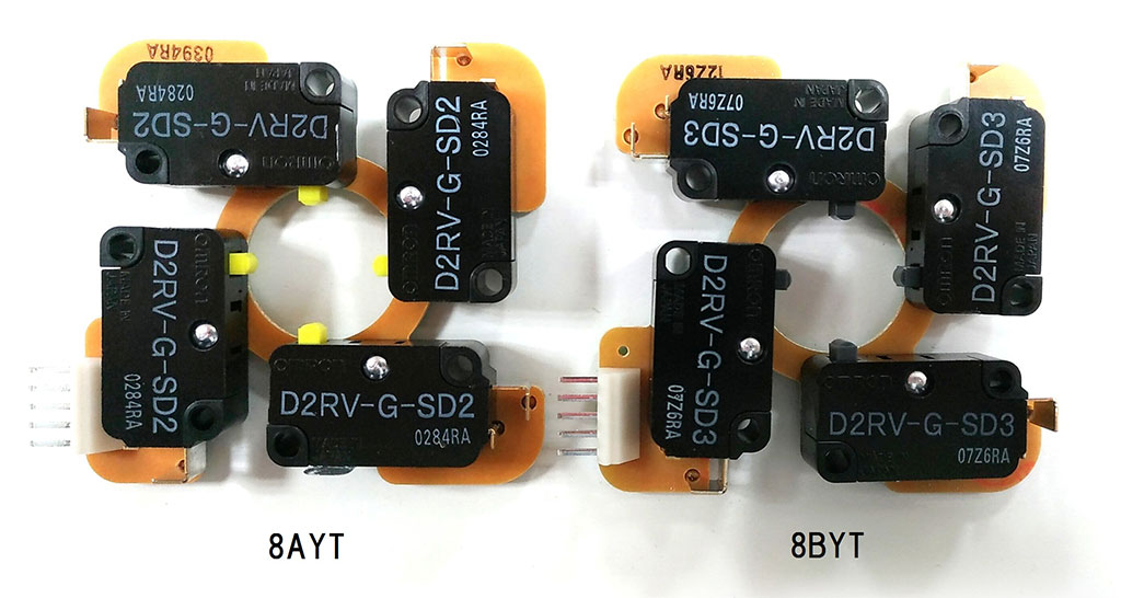 Comparison: Microswitch TPMA for 8AYT and 8BYT