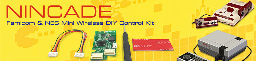 Get the Nincade Wireless Control PCB for NES Classic Mini or Famicom Mini