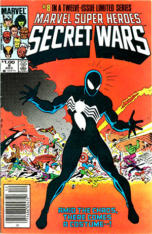 Homage to original Secret Wars #8 cover