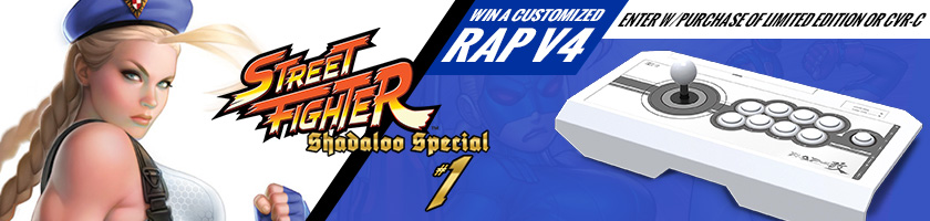 Win a customized White Hori RAP v4! Enter by pre-ordering either the Limited Edition Delta Blue, Delta Red or Homage variant.  Winner announced Wednesday, December 6