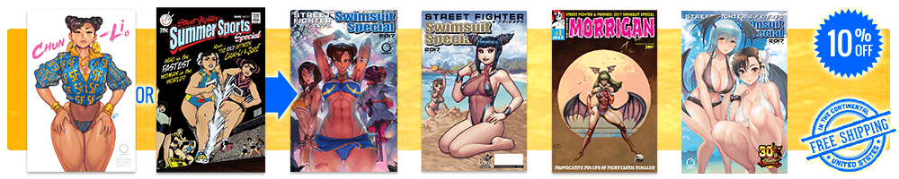 Bundle with Udon store exclusive Chun-Li Album Cover or Homage variants and receive 10% off CVR A, CVR B, CVR C or CVR D plus free domestic USA shipping