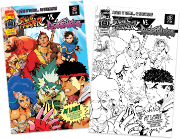 Save 20% if you bundle with FA Exclusive SF vs Darkstalkers #1
