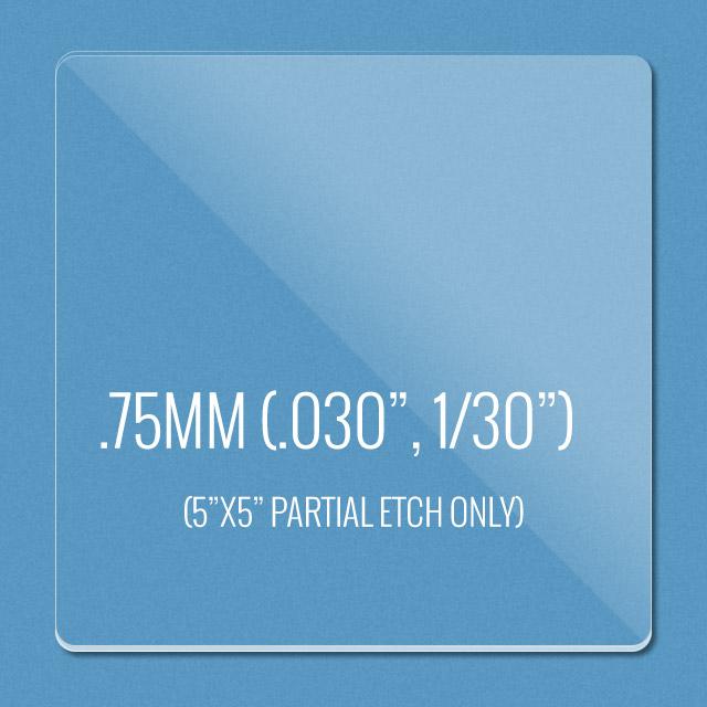 Plexi Thickness: .75mm thin acrylic
