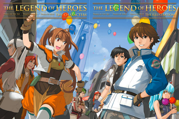 Udon Legends of Heroes Characters and Illustrations covers placed together reveal a full illustration