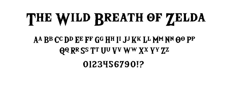 pop: The Wild Breath of Zelda (Zelda Breath of the Wild) font