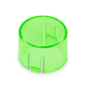 Mix & Match Seimitsu PS-14-DNK Translucent 24mm Convex Cap: Green